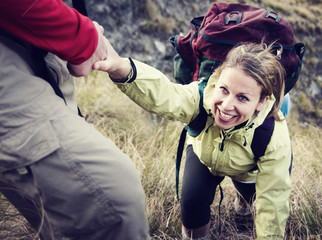 Hiker Support Exercise Extreme Sports Concepts