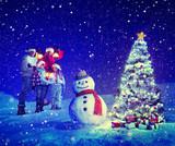 Christmas Tree Family Carol Snowman Concepts