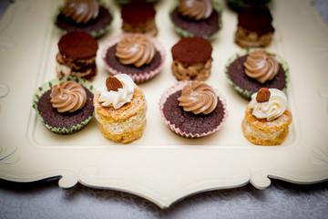 Dessert pastry closeup