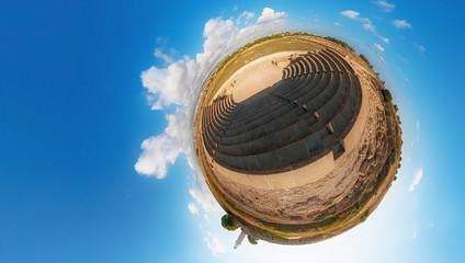 Ancient Odeon. Paphos. Cyprus. Little planet