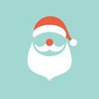Abstract Santa Retro Christmas Card