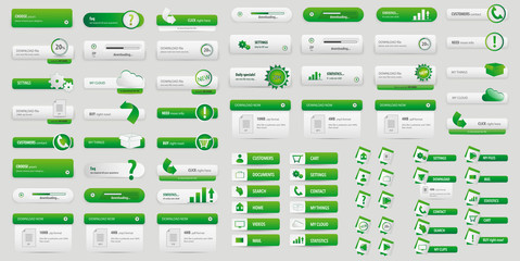 Green big button pack