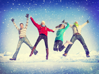 Christmas Celebration Friendship Winter Happiness Concept