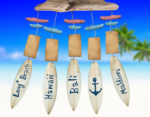 Beach Wind Chime with Copy Space