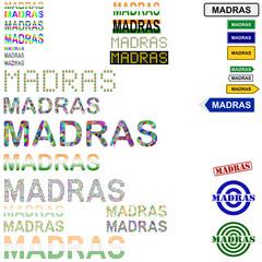 Madras (Chennai) text design set