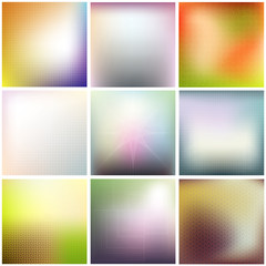 Colorful blurred backgrounds and texture