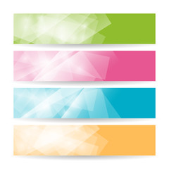 Set colorful polygonal banners , vector illustration