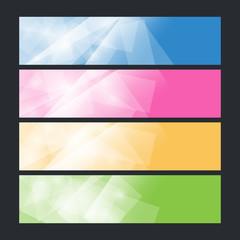 Set colorful polygonal banners , vector illustration