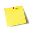 Note pad and push pin