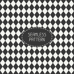 Vector seamless retro pattern with vintage hipster rhombuses.