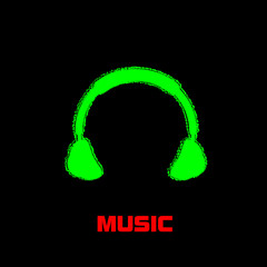 headphones illustration, easy all editable