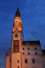 City hall in Goerlitz city Germany at night