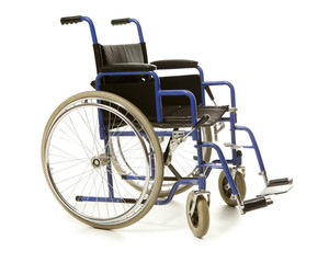 Blue wheelchair blue