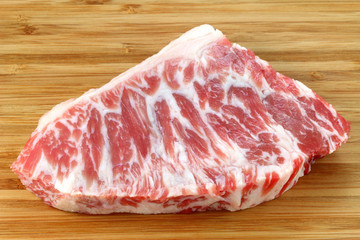 A piece of fresh and raw Beef hump