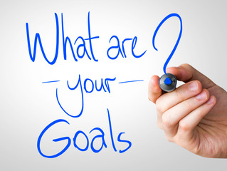 "Creative composition with the message ""What Are Your Goals"""