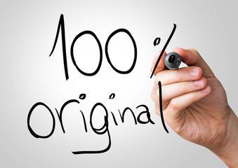 100% Original hand writing with a black mark