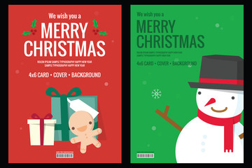 Christmas card - background flat design