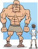 david and goliath cartoon illustration poster