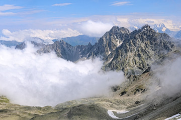 View of Kursk K-141 Mount and Dashikhokh Mount, Caucasus