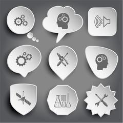 gears, human brain, loudspeaker, screwdriver and combination pli