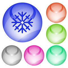 Snowflake. Vector interface element.