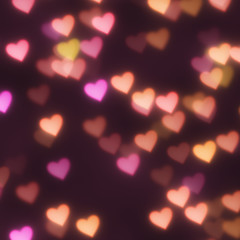 hearts bokeh background