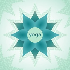 yoga is the emblem of a stylized Lotus flower