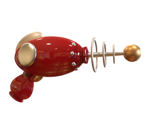 Vintage Ray Gun on white background with clipping path