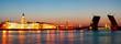 Leinwanddruck Bild - White night in St.-Petersburg