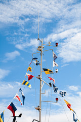 Mast with signal flags