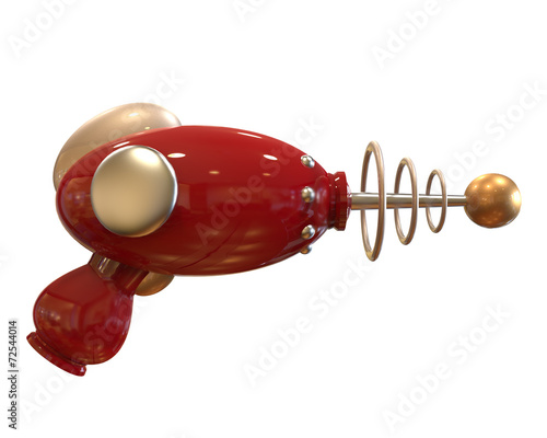 Vintage Ray Gun on white background with clipping path - 72544014