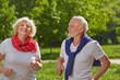 Senioren joggen gemeinsam in der Natur