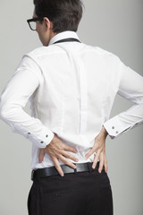 businessmen suffering from back-pain