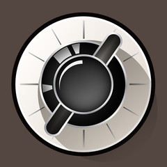 Volume settings, sound control knob, vector illustration