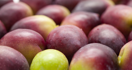 food background of raw olives