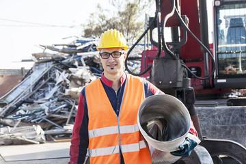 man at work in landfills