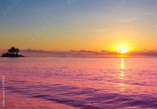 Poster Oranje eclat Rock Sea Fantasy