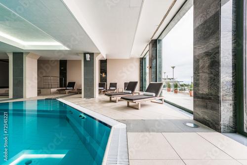 Luxury swimming pool modern hotel - 72545221