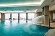 Leinwanddruck Bild - Indoor swimming pool hotel
