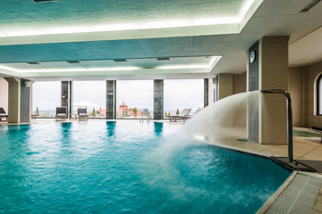 Indoor swimming pool hotel