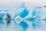 Detail view of iceberg in ice lagoon - Jokulsarlon, Iceland.