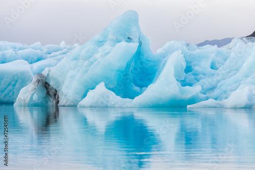 Detail view of iceberg in ice lagoon - Jokulsarlon, Iceland. - 72545691