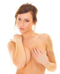 Nudity Closeup Proudly Naked Girl