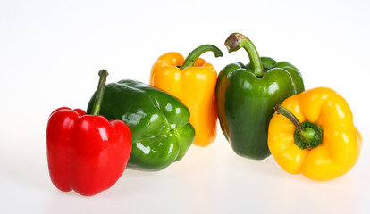 Red,green and yellow bell pepper