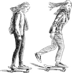teens on the skateboards