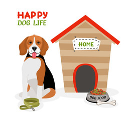 Happy Dog Life poster design