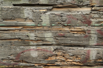 old broken wooden planks abstract background