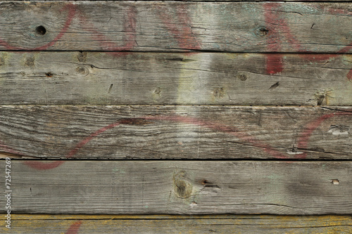 canvas print picture old wooden planks abstract background