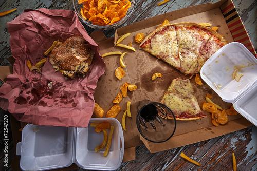 Foto op Plexiglas Kruidenierswinkel Fast Food