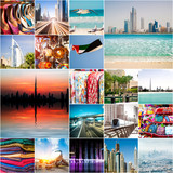 Collage of photos from Dubai